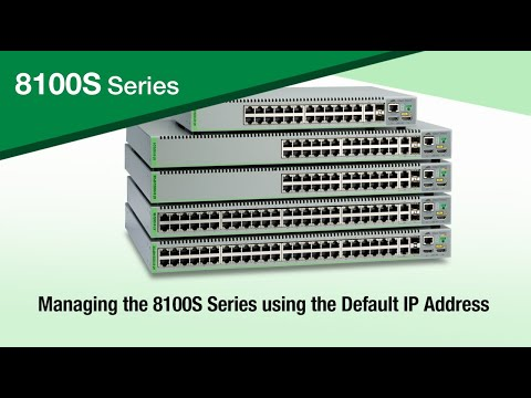 Managing the 8100S Series using Default IP