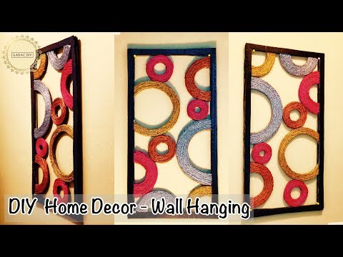 Diy Unique Wall Hanging | Wall Hanging Craft Ideas | Abstract wall hanging | Wall hanging ideas
