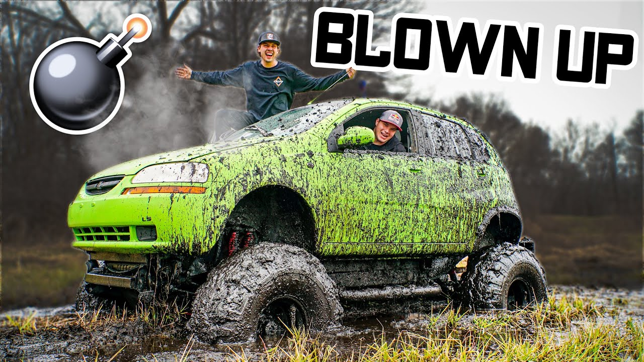 Monster Car Blows Motor While Mudding!!