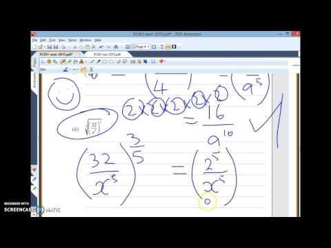 12mat Algebra Exponents 2015 Q3