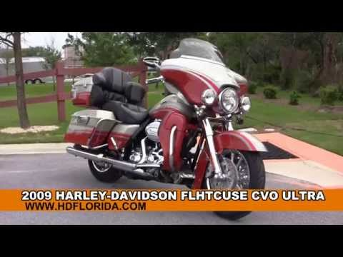 Used 2009 Harley Davidson CVO Ultra Classic Motorcycles for sale in Chipley FL