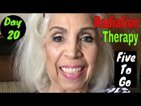 Radiation Therapy - Day 20 - Just Five To Go