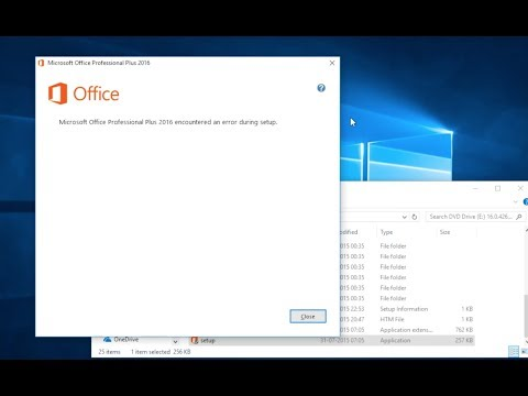 Microsoft Office Error During Setup Installation [SOLVED]