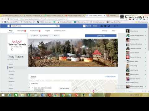 How to Change Facebook Page Category and Name | 2017 Version