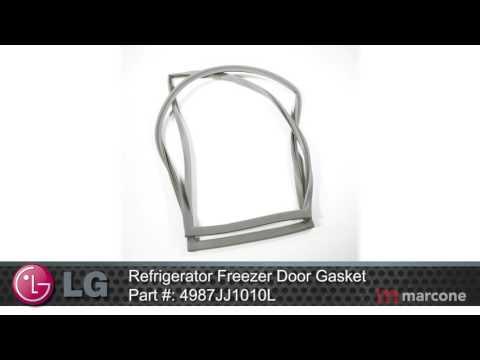 LG Refrigerator Freezer Door Gasket Part #: 4987JJ1010L