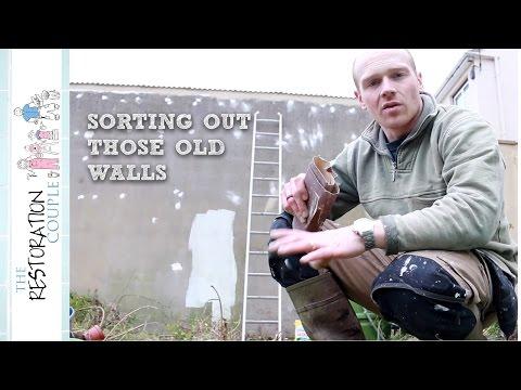 Prepping and Painting the Masonry Walls