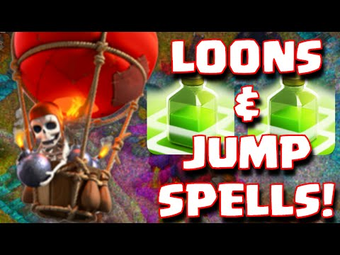 Clash Of Clans Balloons And Jump Spells Raid