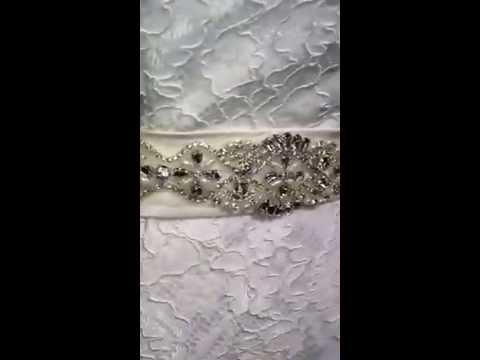 Bridal Belts By Karma (Beautiful Crystal and Pearl Bridal Belt)
