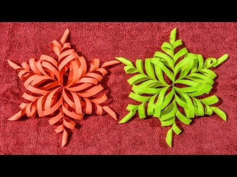 DIY: 3D Snowflake Tutorial.How to make 3d Snowflake Decoration:idea