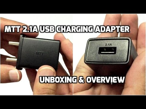 MTT 2.1Amp USB Charging Adapter Unboxing & Overview (INDIA)