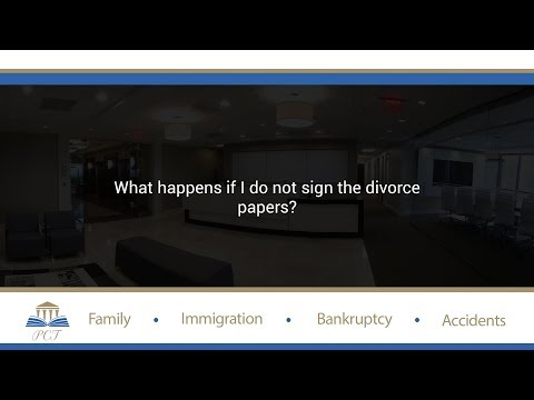 What happens if I do not sign the divorce papers?