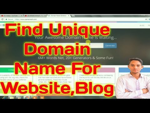 How to Find a Unique Domain Names For Your Blog,Website in Hindi!!2018