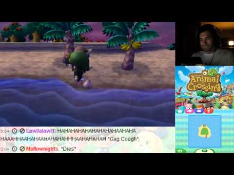 Animal Crossing New Leaf 3DS Shark Fail (Loud) and Catch