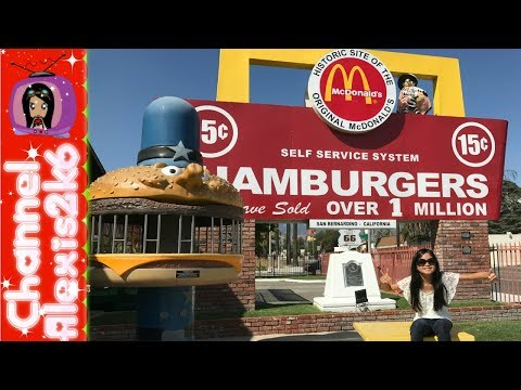 Road Trip!! to a McDonald's Museum!?!  Travel Vlog thru Route 66 San Bernardino