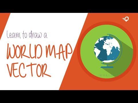 QTAI 14: Create a World map vector in adobe illustrator