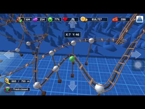 How to make Steel Roller Coaster in RCT Touch - Add Specials