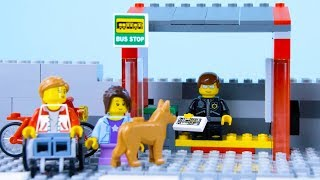 LEGO City Bus Fail STOP MOTION LEGO Bad Luck On The Bus | LEGO City | By Billy Bricks