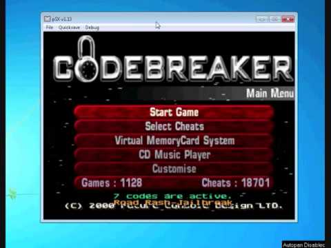 How to use - Gameshark and Codebreaker on PSX Emulator