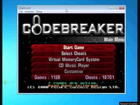 How to use - Gameshark and Codebreaker on PSX Emulator