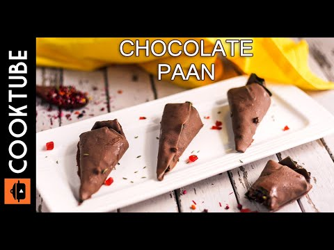 Homemade Chocolate Paan Recipe | How To Make Chocolate Paan
