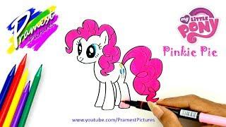 Pinkie Pie Cara Menggambar Dan Mewarnai Gambar Kuda Poni Untuk Anak