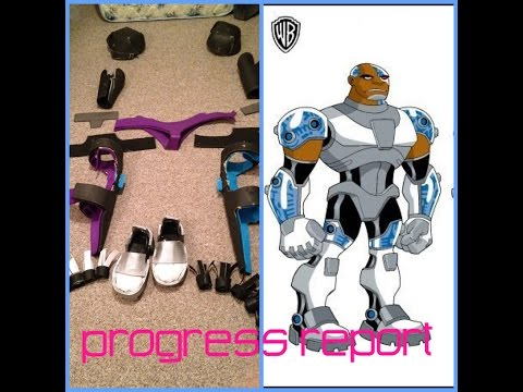 Teen titans cyborg costume progress report