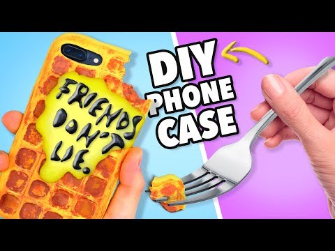 DIY STRANGER THINGS Phone Case Tutorial! - How to Make a Waffle Phone Case!