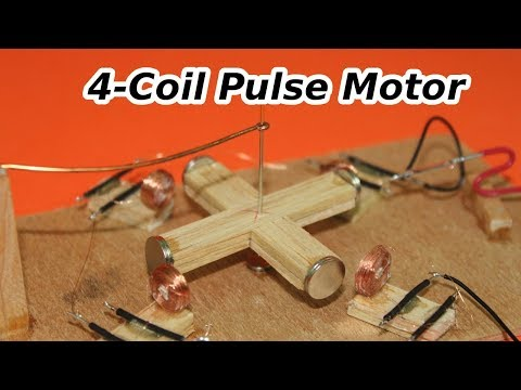 Small Pulse Motor with 4 Coils