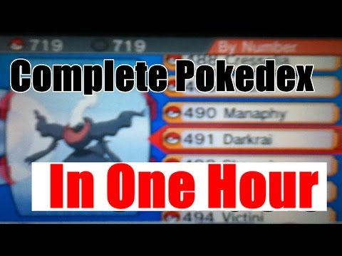 How to Complete YOUR Pokedex in ONE HOUR in Pokemon Omega Ruby and Alpha Sapphire