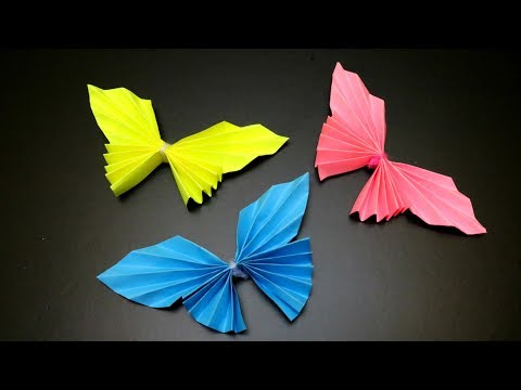 DIY PAPER BUTTERFLIES EASY |  EMMA DIY #4