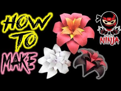 How to make: Origami Flower