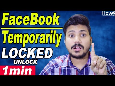 How to UnLock Facebook Account Temporarily Locked | Confirm Your Identity | Hindi Urdu 2018