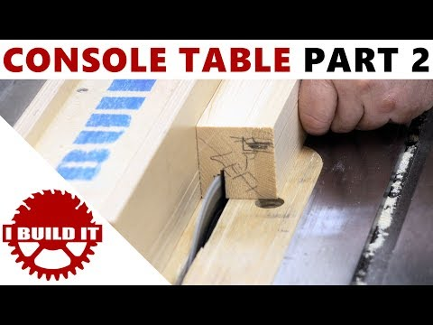 Making A Console / Accent Table - Part 2 - Free Woodworking Course