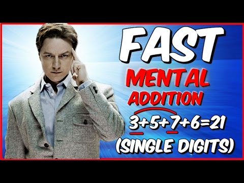 HOW TO ADD: FAST MENTAL ADDITION  TRICK for SINGLE digits