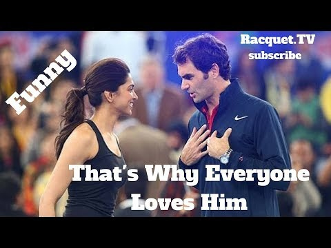 Tennis. Roger Federer - TOP EVER FUNNY Moments (part 1)