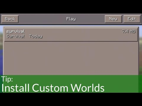 How to Install Worlds on Minecraft Pocket Edition (iOS)
