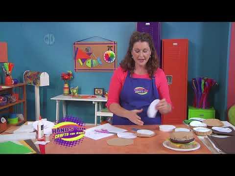 Create a fun felt hamburger on Hands On Crafts for Kids with Jenny Barnett