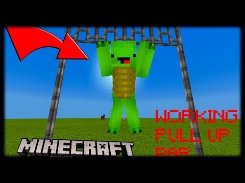 Minecraft PE | How to make Working Pull Up Bar