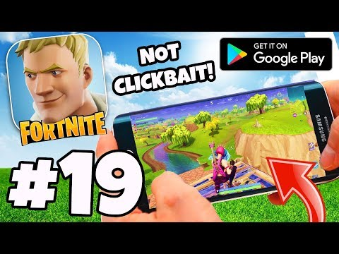 *WORLD EXCLUSIVE* FORTNITE ANDROID / GOOGLE PLAY!  - Fortnite Battle Royale #19 (Android Gameplay)