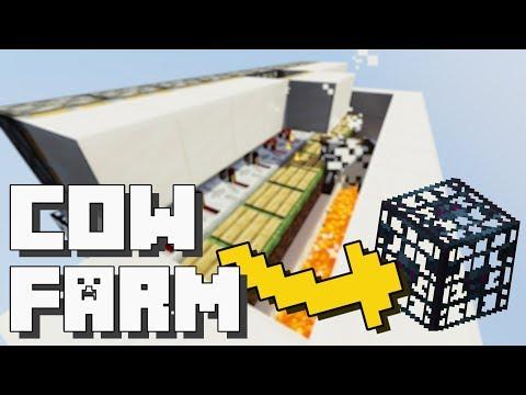 Minecraft: Cow & Sheep Farm with Spawner [Tutorial]