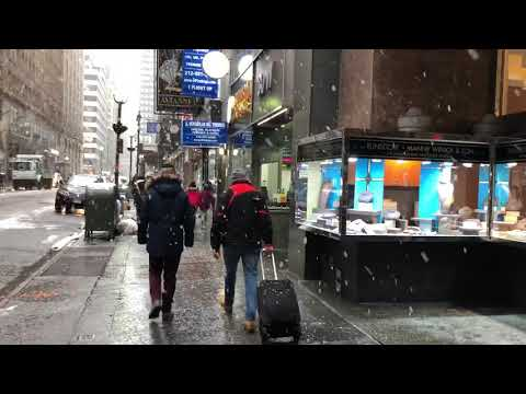Spring Snowstorm, Diamond District, New York (3-21-18)