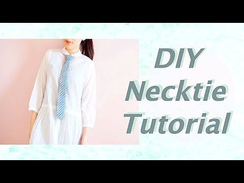 DIY Necktie // DIYファッションチュートリアル * ネクタイ👔の作り方 / Sewing Tutorialㅣmadebyaya