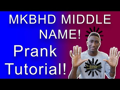 MKBHD MIDDLE NAME PRANK, REACTION, TUTORIAL! Troll the Internet Like MKBHD!