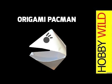 How To Make A Paper Pacman (Origami)