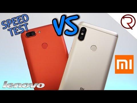 Lenovo S5 VS Xiaomi Redmi Note 5 - SPEED TEST - Snapdragon 625 VS 636