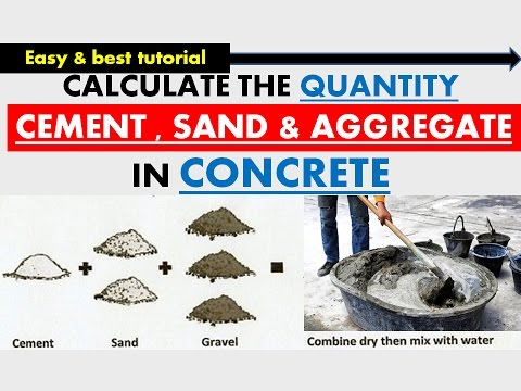 CALCULATION OF QUANTITY OF CEMENT & SAND  & AGGREGATE IN CONCRETE MIX | CIVIL ENGG | BEST TUTORIAL