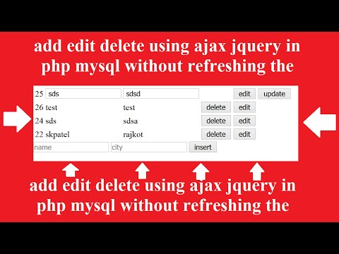 table add edit delete using ajax jquery in php mysql without refreshing the page