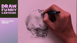 How to draw HIPPO from jumanji: welcome to the jungle