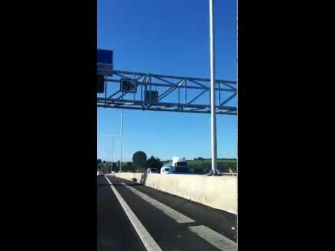 Big Traffic Jam in M1 UK