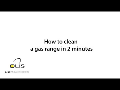 How to clean a gas range in 2 minutes